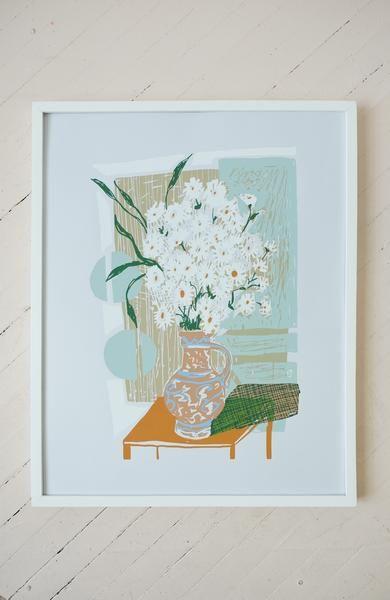 Flowers For Lucile Silkscreen Print Silk Screen Printing Prints Handmade Wall Art