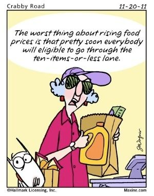 Maxine Comments About Life In The Fast Lane The Ten Items Or Less Lane Maxine Humor Funny