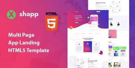 Xshapp - Multipage App Landing HTML5 Template