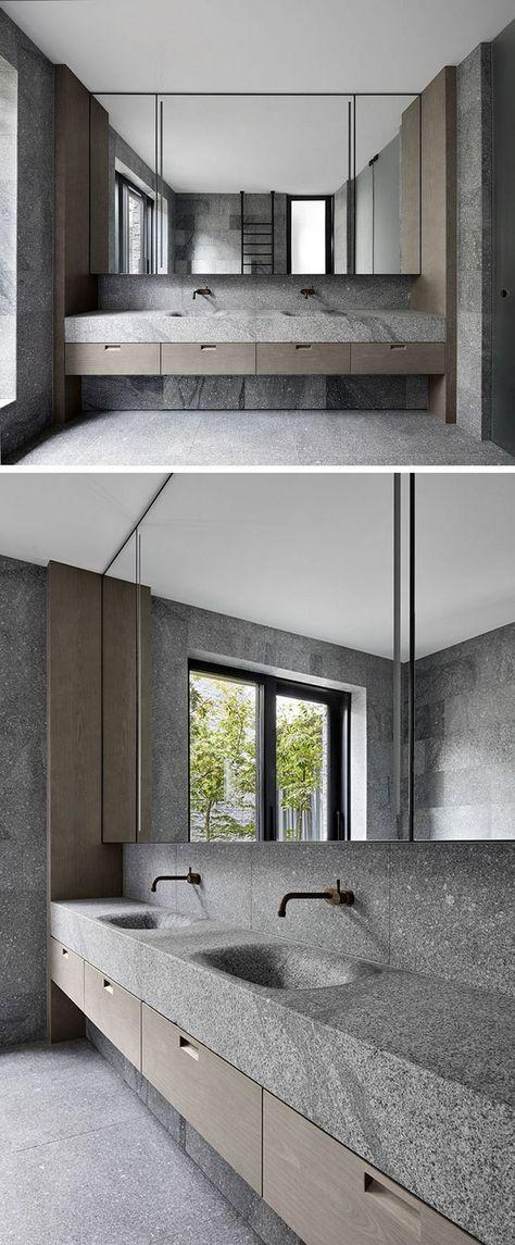 Bad Design Granit Waschtisch Naturstein Modern Architektur