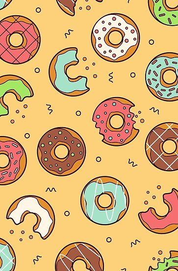 Sweet Donuts Millions Of Unique Designs By Independent Artists Find Your Thing Papel De Parede Disney Planos De Fundo Papeis De Parede
