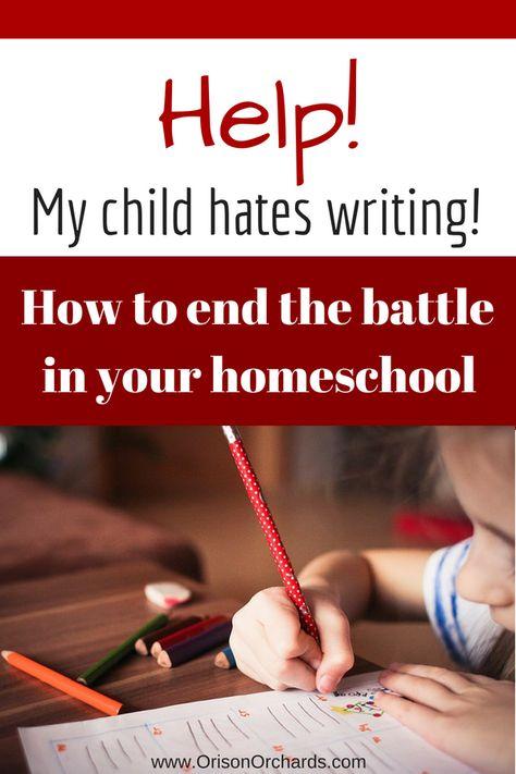 Help! My Child Hates Writing!