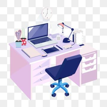 2 5d Office Desk Chair 2 5d Desk Notebook Digital Tablet Table Lamp Png And Vector With Transparent Background For Free Download In 2020 Office Desk Chair Office Desk Desk Chair