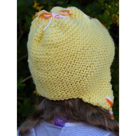 Bonnet Peruvien Petit Poussin Pour Enfant Chapeau Crochet