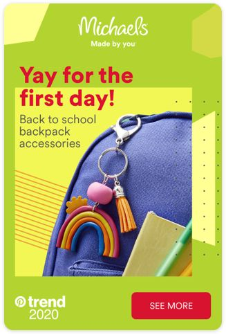 Michaels adds more YAY! to the first day, with all the back to school essentials you need. Tap the Pin and get prepared.