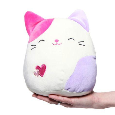 Squishmallow 8 Plush Animal Pillow Pet Karina The Pink /& Grey Tabby Cat