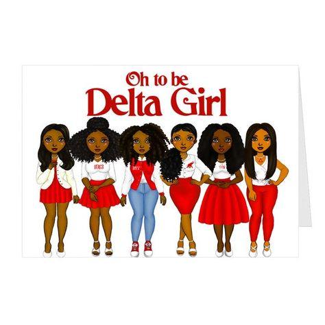 Paper Cards, Folded Cards, Delta Girl, What Is A Delta, Divine Nine, Silk Coat, Delta Sigma Theta, Congratulations Card, Greek Life