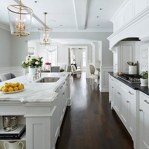Martha O Hara Interiors Benjamin White Dove Vaughan Designs Zurich Lantern Wainscotingstyles Kitchen Remodel Kitchen Inspirations White Kitchen Design