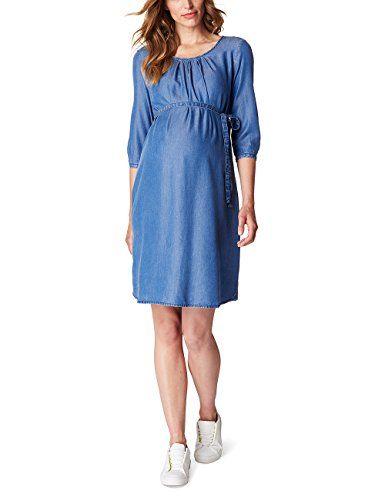 Esprit Maternity Damen Umstands Kleider Dress Denim O84279 Blau Medium Wash 960 40 Herstellergrosse 40 Die Hohe Taille Mit Gurtel Bring With Images Casual Dress Fashion