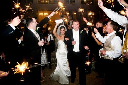 Grand exit with sparklers at Bear's Best Atlanta