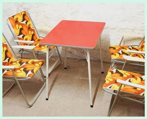Vintage Gdr Formica Table Camping Table Folding Table Outdoor