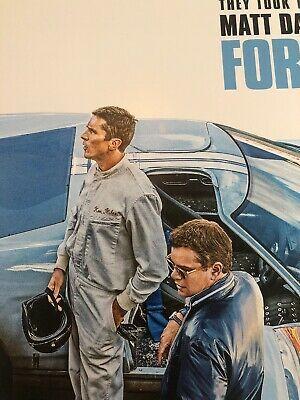 Ford Vs Ferrari Movie Poster 12x18 Christian Bale Matt