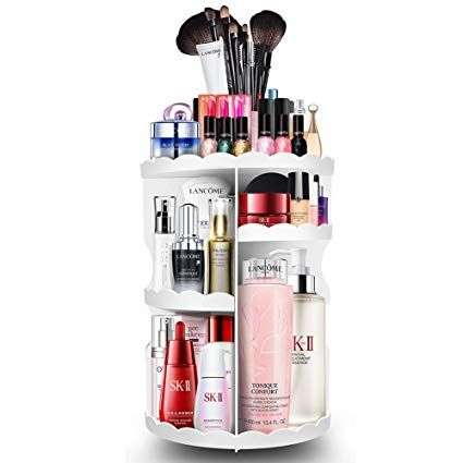 Plusmart Makeup Organizer Cosmetic Organizer Adjustable 360