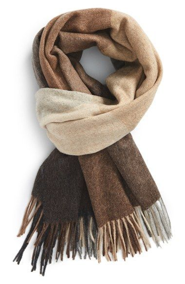 99a1a9bf7 Paul Smith Check Wool & Cashmere Scarf available at #Nordstr… | Mens ...