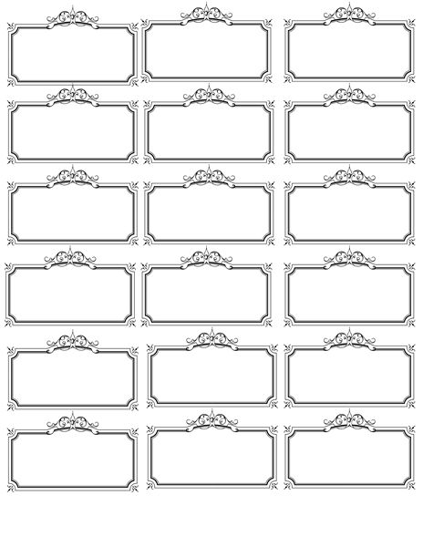 Free Printable Fancy Name Tags The Template Can Also Be Used For - Name tags templates