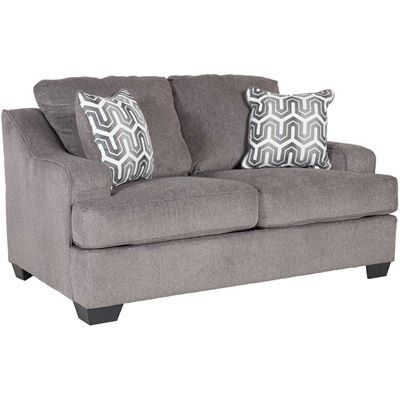 Fountain Room Master Show Details For Gilmer Gunmetal Loveseat