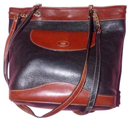 1d44562d105a Vintage Purses Designer Purses Brown Checkerboard Print Coated Canvas and  Camel Leather Shoulder Bag