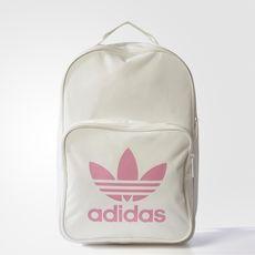 mochila adidas branca e rosa