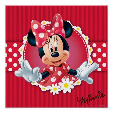 Red Minnie | Flower Frame Poster