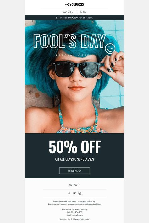 Fool's Day Special Offer - Email Template