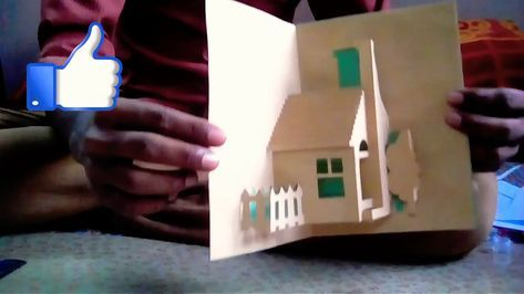 House Pop Up Card 3d Card House Card Home Card Youtube Pop Out Cards Pop Up Card Templates Art Activities For Kids