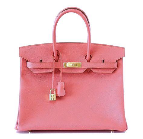 bd690a6dd0 Hermes Birkin Bag 35 Flamingo Pink Epsom Gold Hardware  hermes ...