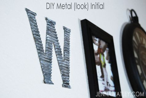 30 minutes for a metal wall initial that YOU made for free!