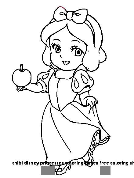 Chibi Disney Princesses Coloring Pages Free Coloring Sheets Chibi
