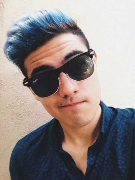 6 Blue Hair For Guys Jpg 500 667 With Images Men Hair Color