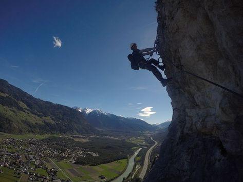 Klettersteig Geierwand : Klettersteig geierwand bei haiming klettersteige via ferrata