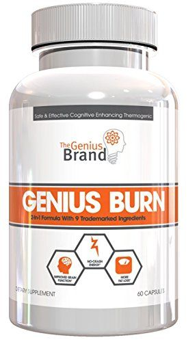 Genius Burn - 2-In-1 Focus Enhancing Thermogenic Fat Burner, Caffeine Free Nootropic Weight Loss Supplement, Natural Energy, Memory and Brain Boost with 9 Clinically Validated Ingredients, 60 V-Caps ** To view further for this item, visit the image link.