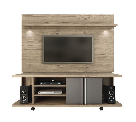 Manhattan Comfort Carnegie TV Stand and Park 1.8 Floating