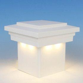Low Voltage Post Cap Lighting Decksdirect Deck Railing