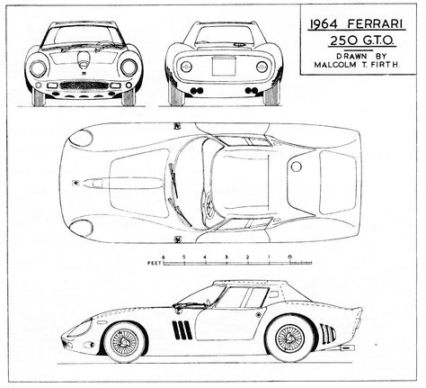 Alfa Romeo Tipo 33 blueprint Racing Car blueprint Pinterest - best of car blueprint in hd