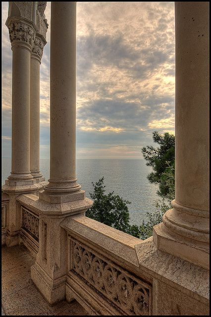 Miramare Castle, Bay of Grignano, Trieste, Friuli-Venezia Giulia region of Italy. Just outside of Trieste, Italy - my mother's hometown. Images Esthétiques, Beige Aesthetic, Aesthetic Boy, Summer Aesthetic, Trieste, Beautiful Architecture, Baroque Architecture, Ancient Architecture, Architecture Design