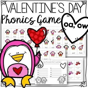 Valentine S Day Reading Fluency Game For Vowel Teams Oa And