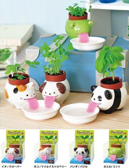 植物栽培キット べろがベローンっと 水を吸う仕様の動物型植物栽培