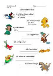 BINGO for young learners - present continuous with Disney ...