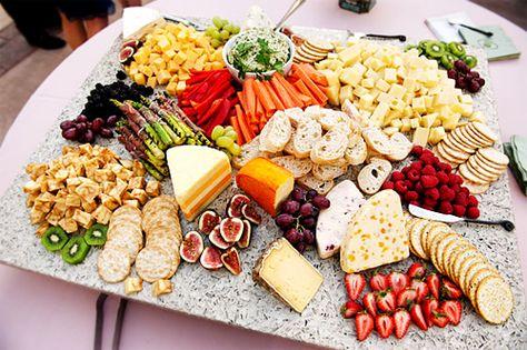 Fancy cheese platter