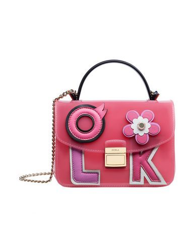 metallic FURLA Handbag. #furla #bags...