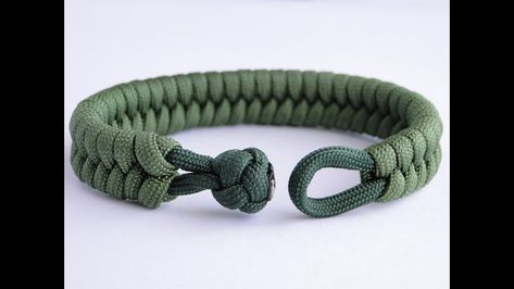 """How to Make a Fishtail Knot and Loop Paracord Survival Bracelet """"Clean Way""""  YOU TUBE VIDEO !!"""