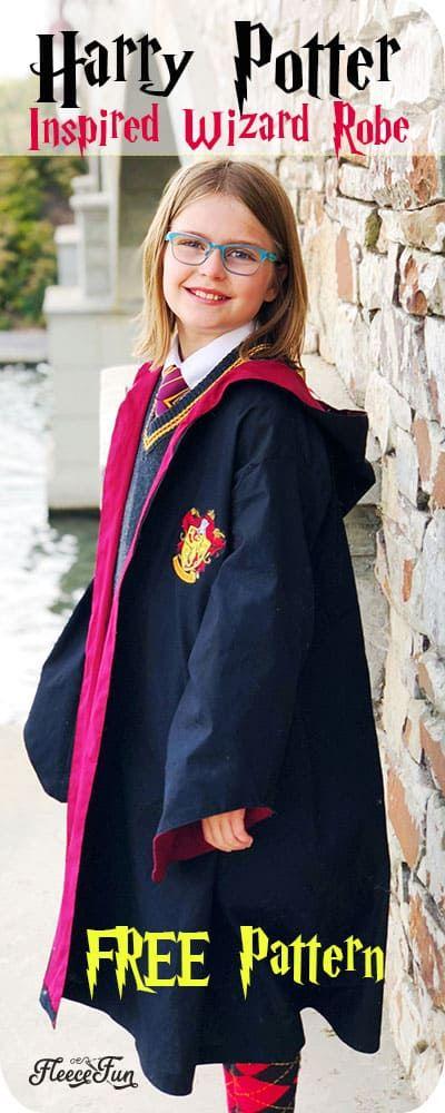 Harry Potter Robe Pattern Free Diy Harry Potter Robes Hogwarts Robes Harry Potter Costume Diy