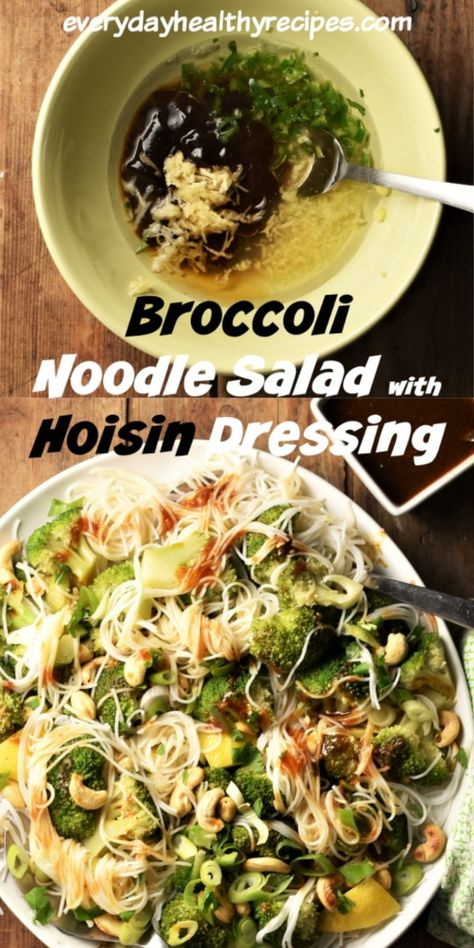 This Asian inspired bean thread noodle salad with broccoli makes a delicious, refreshing light lunch. It's nutritious, vegan and super easy to make. Ready in as little as minutes. #vegansalad #noodlerecipes #saladmeal #veganrecipes #broccolisalad #easysalad #everydayhealthyrecipes