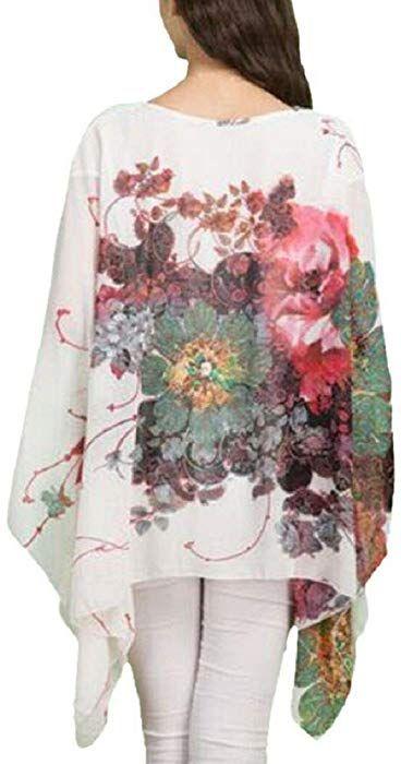 Dizoe Camisetas Y Tops Blusas Y Camisas Mujer Estampadas Flores Caftan Playa Gasa Tallas Grandes Amazon Es Ropa Y Acceso Camisas Mujer Camisas Blusas Camisas