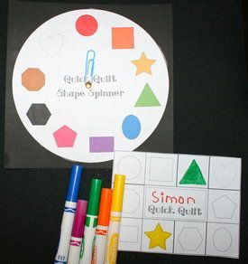 Glyphs and Shape Game Quilts