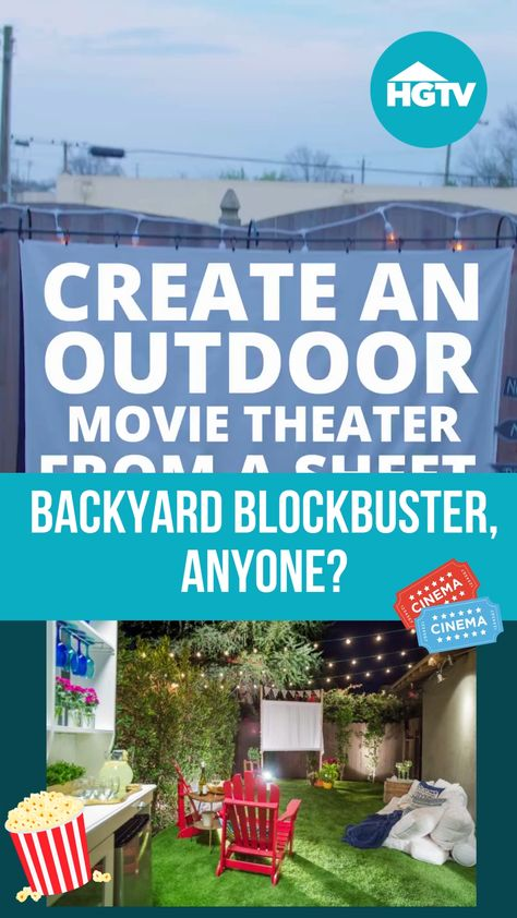 Transform your backyard into an open-air movie theater with this easy DIY screen made from PVC pipes and a white sheet.