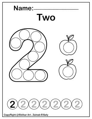 Number Two 2 Dot Marker Coloring Page Activity Print The Pages And