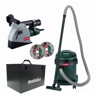 Metabo 125mm Twin Blade Wall Chaser Dust Extractor Combo Work Tools Dust Extractor Tools And Equipment