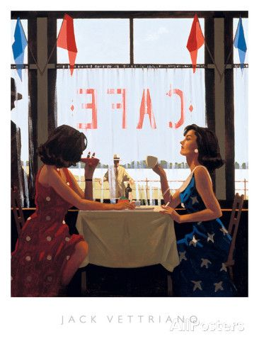 Café Days Prints by Jack Vettriano at AllPosters.com