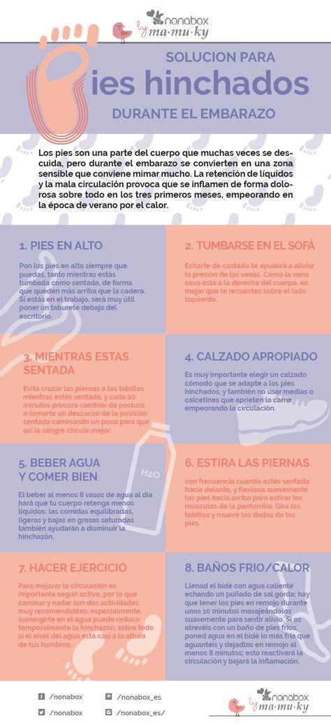 Solución para los pies hinchados en el embarazo - Nonablog